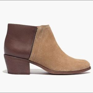 Madewell Brown Leather and Suede Chunky Heels